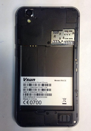 فایل فلش Vsun Race با پردازنده MT6735