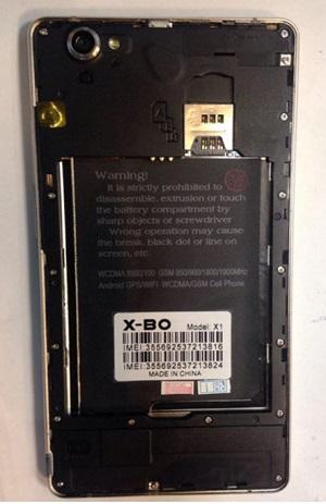فایل فلش X-BO X1 با پردازنده MT6580